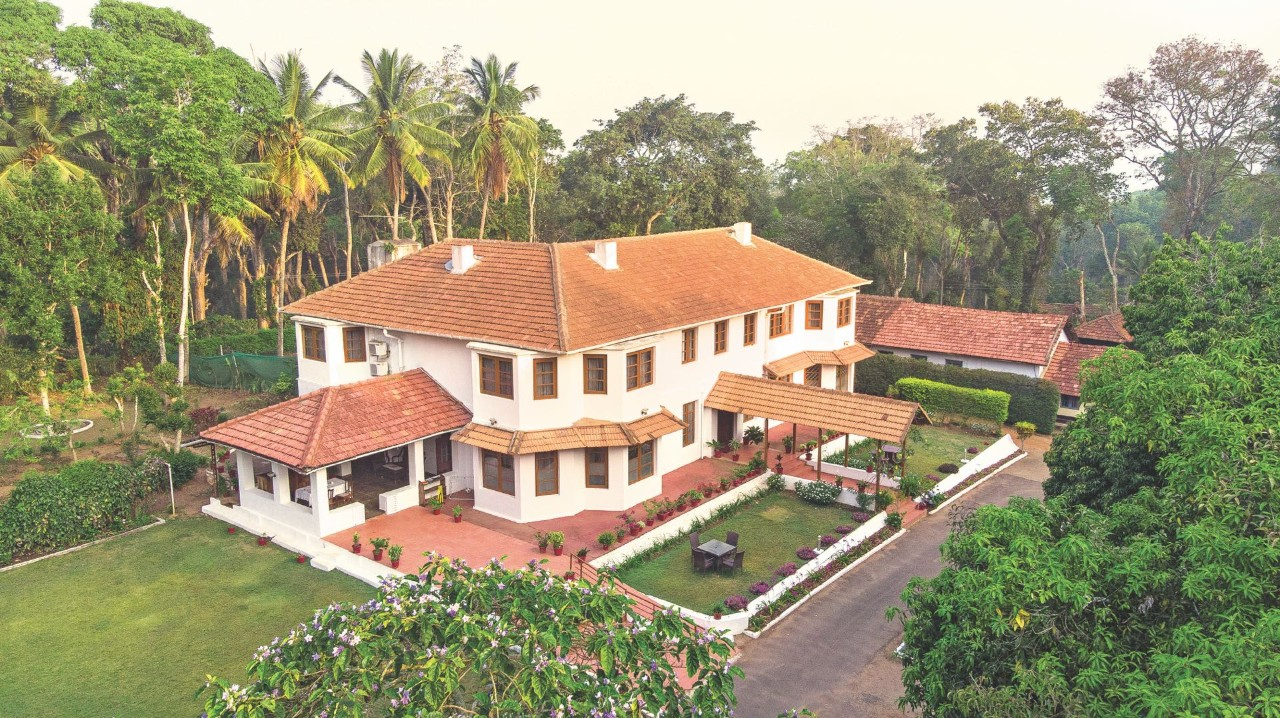 Aerial View of Best Bungalow in Coorg, Taneerhulla Bungalow